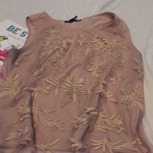 Forever 21 nude / light brown top